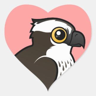 Cute Osprey Heart Sticker