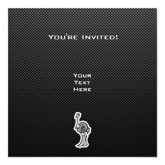 Cute Ostrich; Sleek Card