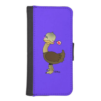 Cute ostrich wink iPhone SE/5/5s wallet case