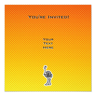 Cute Ostrich; Yellow Orange Card