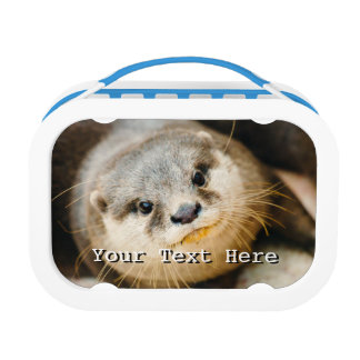 Cute Otter, Animal Portrait, Nature Photography Lunchboxes