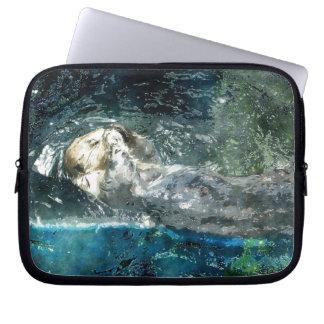 Cute Otter Design for Animal-lovers Laptop Sleeve