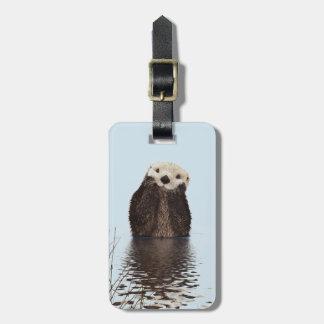 Cute Otter Face Nature Photo Luggage Tag
