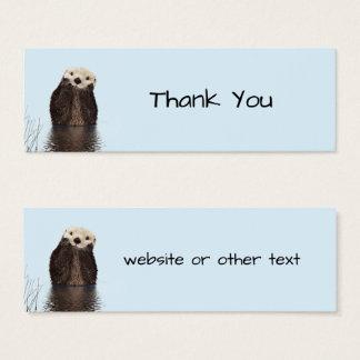 Cute Otter Face Nature Photo Mini Business Card