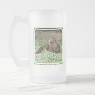 Cute Otter Frosted Beer Mug