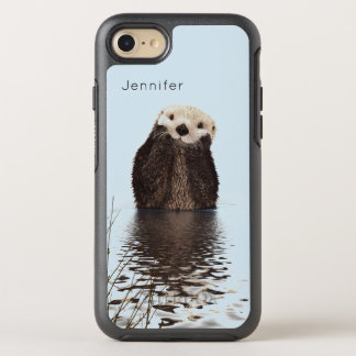 Cute Otter Standing in a Pond Holding his Face OtterBox Symmetry iPhone 8/7 Case