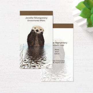 Cute Otter Wildlife Image Business Card