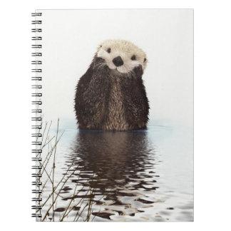 Cute Otter Wildlife Image Notebook