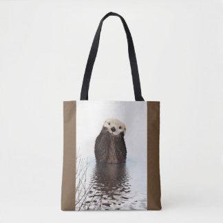 Cute Otter Wildlife Image Tote Bag