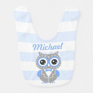 Cute Owl Baby Boy Baby Bib