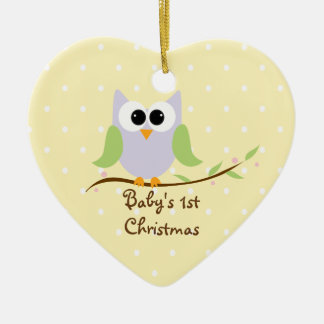 Cute Owl Baby s 1st Christmas Ornament