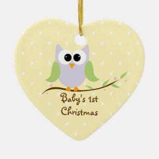 Cute Owl Baby s 1st Christmas Ornament