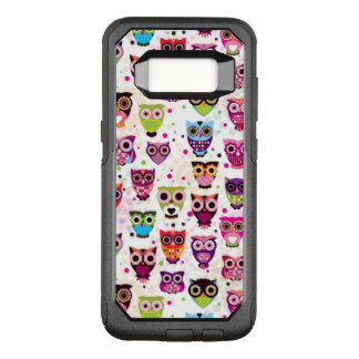 Cute owl background pattern for kids OtterBox commuter samsung galaxy s8 case
