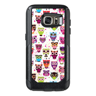 Cute owl background pattern for kids OtterBox samsung galaxy s7 case