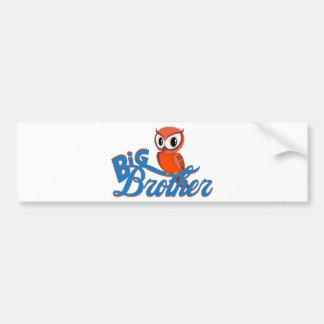 Cute Owl Big Brother Bumper Sticker