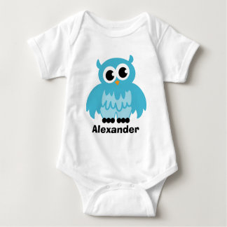 Cute owl cartoon baby clothing for boy baby bodysuit