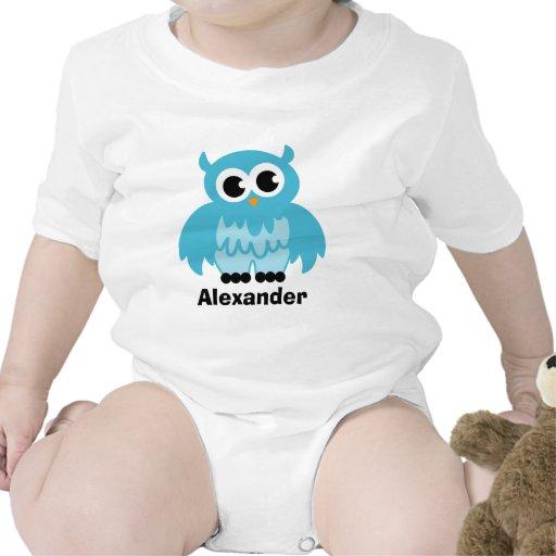 Cute owl cartoon baby clothing for boy tshirt