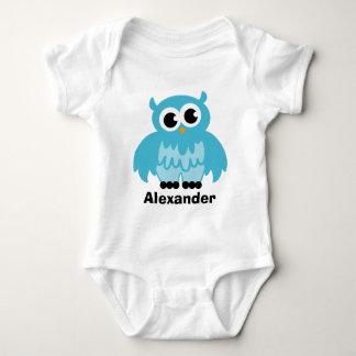 Cute owl cartoon baby clothing for boy tshirts