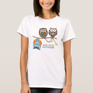 Cute Owl Cartoon T-Shirt Dare to be Different