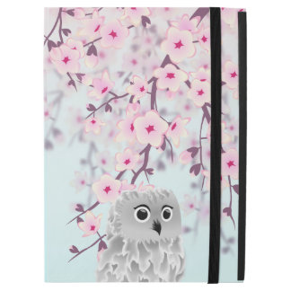 "Cute Owl Cherry Blossoms Pastel iPad Pro 12.9"" Case"