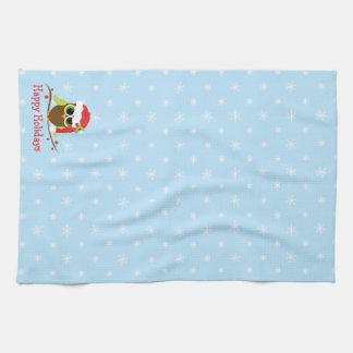 Cute Owl Christmas Kitchen Towel