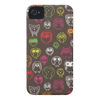 Cute owl doodle pattern iPhone 4 Case-Mate cases