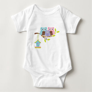 Cute Owl Family Baby Bodysuit