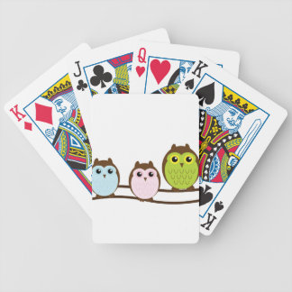 Cute Owl Family Bicycle Playing Cards