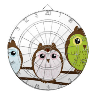 Cute Owl Family Dartboard