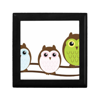 Cute Owl Family Gift Box