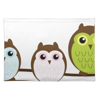 Cute Owl Family Placemat