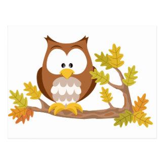 Cute Owl forest series Postcard