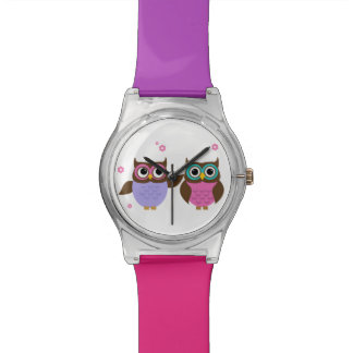 Cute Owl Friends Colourful Watch