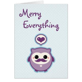 Cute Owl Holiday Card