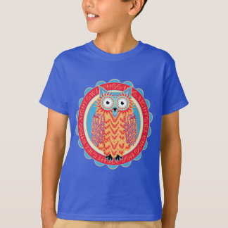 Cute Owl Hoo Hoo Bird Lover's Colorful T-Shirt