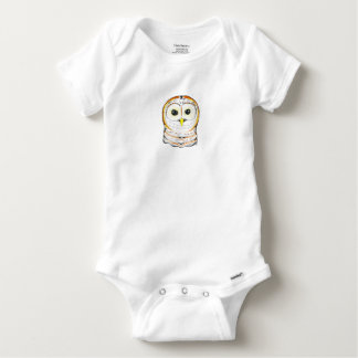 Cute Owl Ink Drawing Baby Onesie