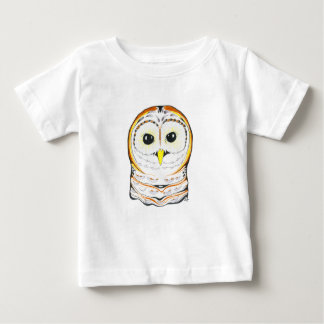 Cute Owl Ink Drawing Baby T-Shirt