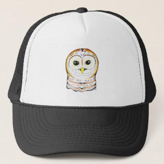 Cute Owl Ink Drawing Trucker Hat