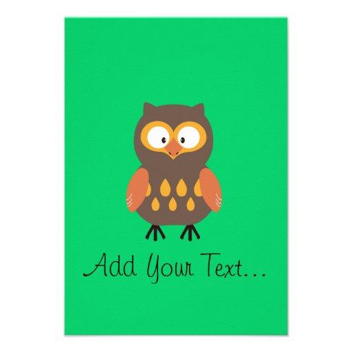 Cute Owl Personalized Invite