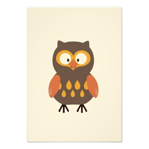 Cute Owl Custom Invitations