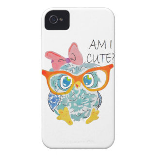 Cute Owl iPhone 4 Case-Mate Cases