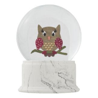 Cute Owl Love Snow Globe