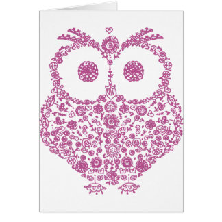 CUTE OWL LOVERS GIFT GREETING CARD