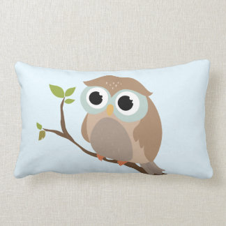 Cute owl lumbar pillow