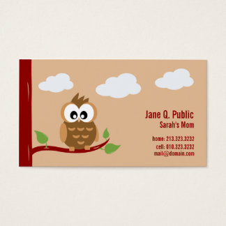 Cute Owl Mommy Calling Business Card