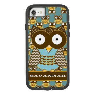 Cute Owl Moorish Zig Zag Pattern Choose Your Color Case-Mate Tough Extreme iPhone 8/7 Case