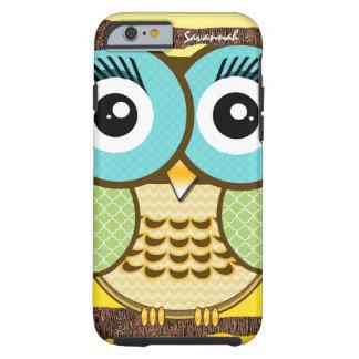 Cute Owl Moorish Zig Zag Pattern Choose Your Color Tough iPhone 6 Case