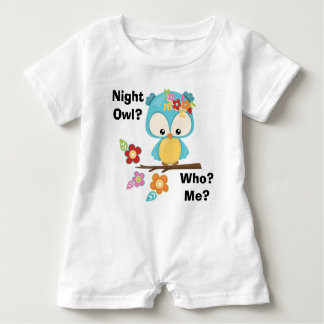 Cute Owl on Branch Baby Romper