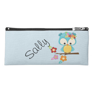 Cute Owl on Branch Personalized Pencil Case