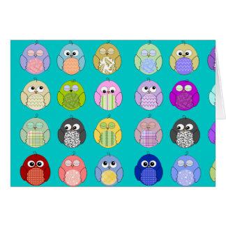 Cute Owl Pattern Greeting Card